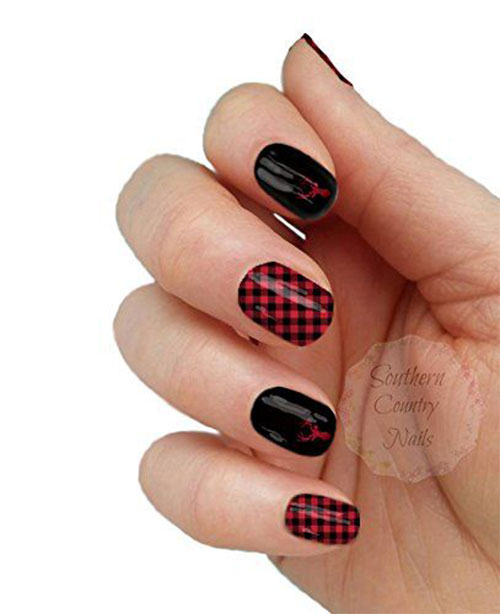 10-Amazing-Red-Black-Halloween-Themed-Nail-Art-Stickers-Decals-2019-4