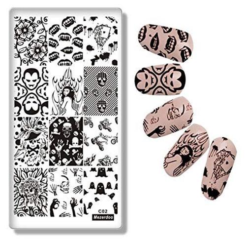 10-Halloween-Inspired-Nails-Art-Stencils-2019-5