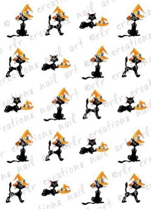 12-Halloween-Black-Cat-Nail-Art-Stickers-2019-1