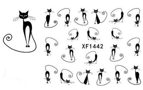 12-Halloween-Black-Cat-Nail-Art-Stickers-2019-11