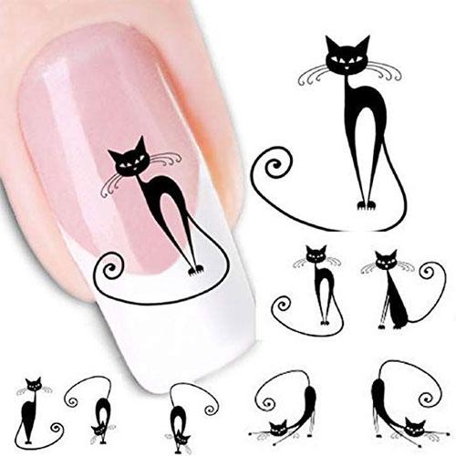12-Halloween-Black-Cat-Nail-Art-Stickers-2019-13