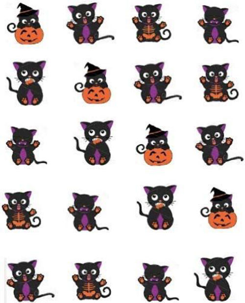 12-Halloween-Black-Cat-Nail-Art-Stickers-2019-2