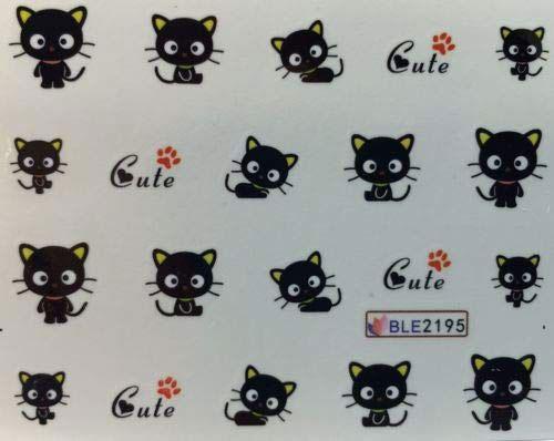12-Halloween-Black-Cat-Nail-Art-Stickers-2019-8