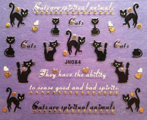 12-Halloween-Black-Cat-Nail-Art-Stickers-2019-9