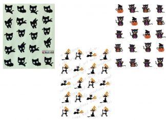 12-Halloween-Black-Cat-Nail-Art-Stickers-2019-F