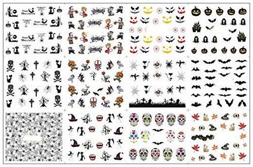 12-Simple-Halloween-Inspired-Nails-Art-Stickers-2019-6