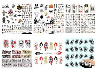 12-Simple-Halloween-Inspired-Nails-Art-Stickers-2019-F
