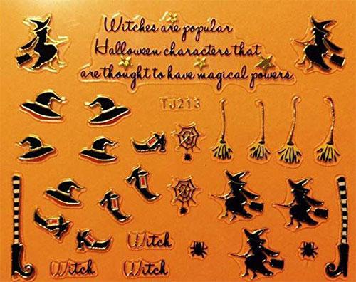 15-Best-Halloween-Witch-Nail-Art-Stickers-Designs-Trends-2019-3