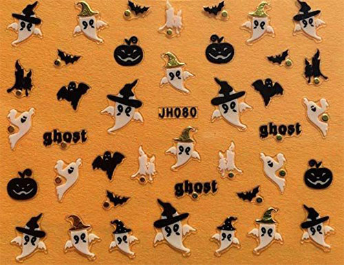 Halloween-Bat-Nail-Art-Stickers-Designs-Trends-2019-4