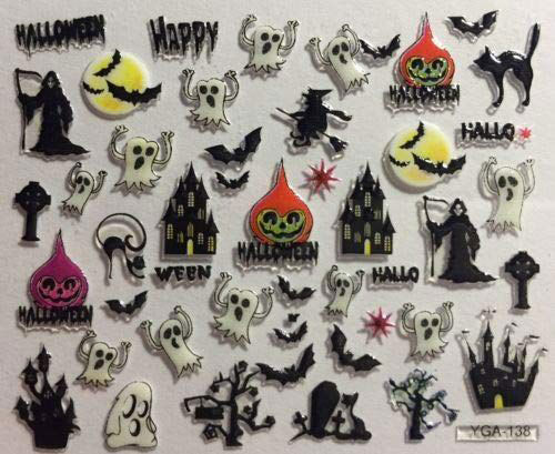 Halloween-Ghost-Nail-Art-Stickers-Designs-Ideas-2019-Boo-Nails-3