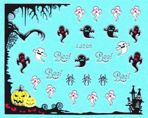 Halloween-Ghost-Nail-Art-Stickers-Designs-Ideas-2019-Boo-Nails-5