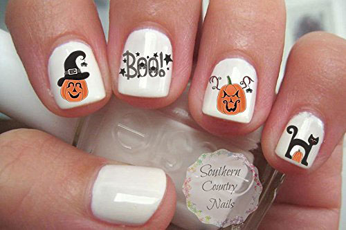 Halloween-Ghost-Nail-Art-Stickers-Designs-Ideas-2019-Boo-Nails-7