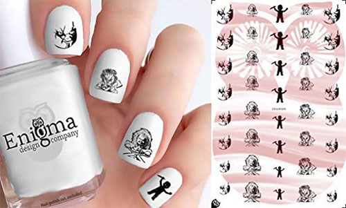 Halloween-Inspired-Nail-Art-Stickers-Decals-For-Kids-2019-5
