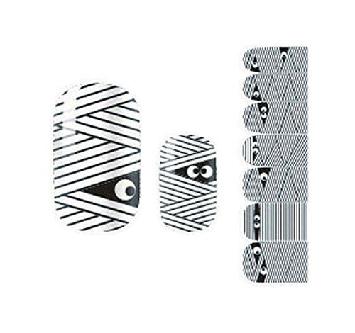 Halloween-Mummy-Nail-Art-Stickers-Decals-Designs-Trends-2019-3