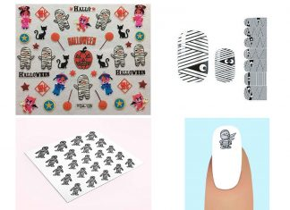Halloween-Mummy-Nail-Art-Stickers-Decals-Designs-Trends-2019-F