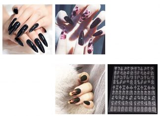 Halloween-Themed-Acrylic-Gel-Nail-Stickers-Designs-Trends-2019-F