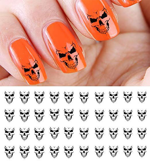 Skull-Nail-Art-Stickers-Designs-Trends-For-Halloween-2019 -Monster-Nails-3