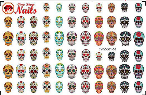 Skull-Nail-Art-Stickers-Designs-Trends-For-Halloween-2019 -Monster-Nails-7
