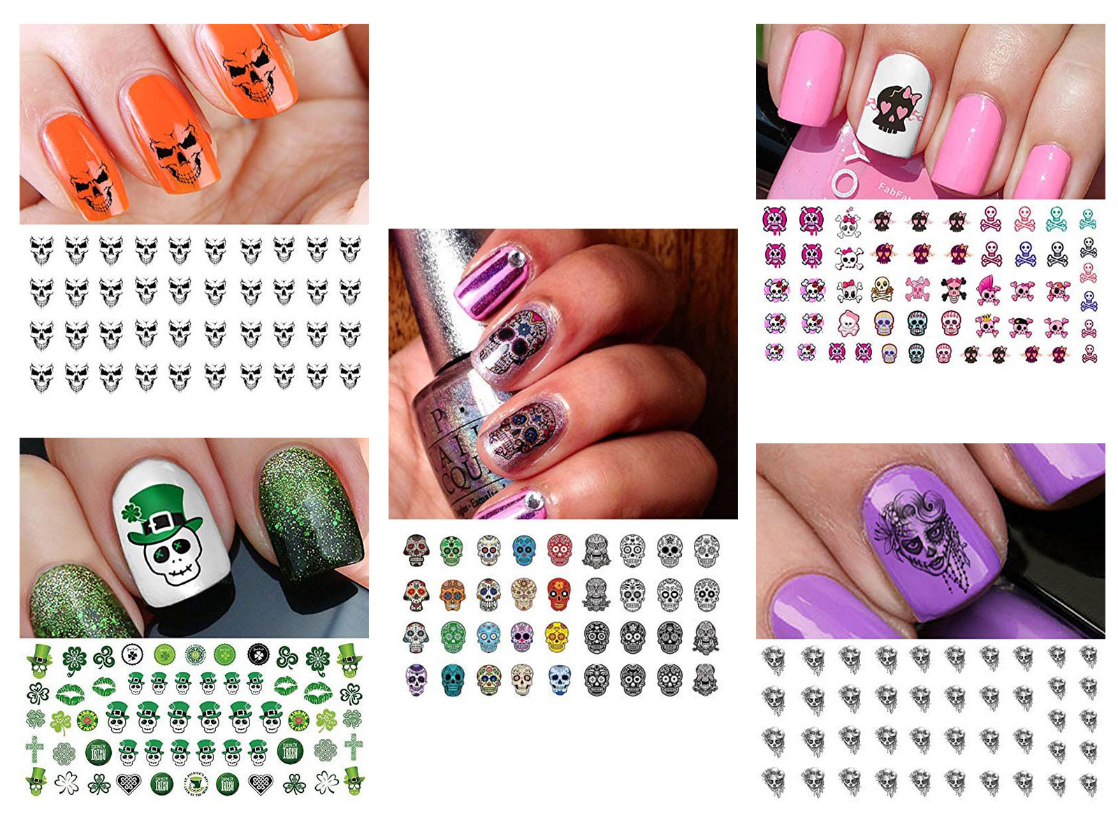 Skull-Nail-Art-Stickers-Designs-Trends-For-Halloween-2019 -Monster-Nails-F