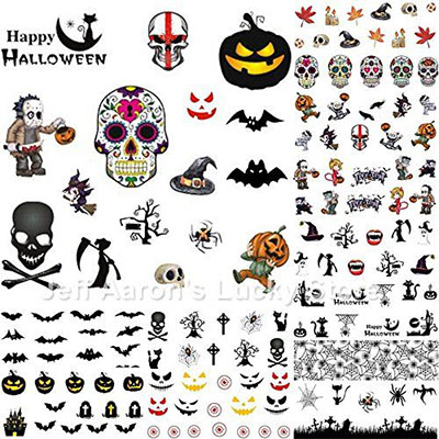 Very-Simple-Halloween-Inspired-Nails-Art-Stickers-2019-1