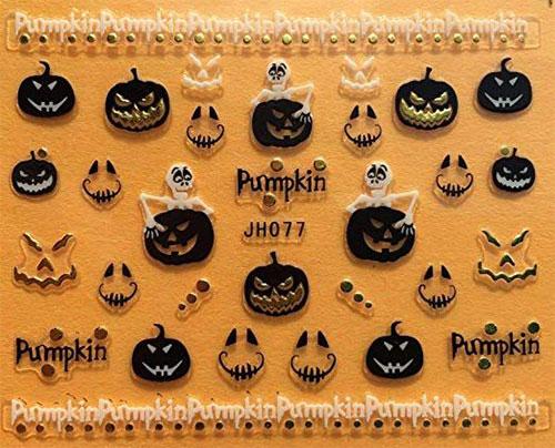 10-Halloween-Pumpkin-Nail-Art-Decals-Designs-Trends-2019-4