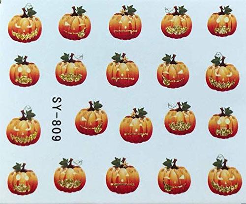 10-Halloween-Pumpkin-Nail-Art-Decals-Designs-Trends-2019-5