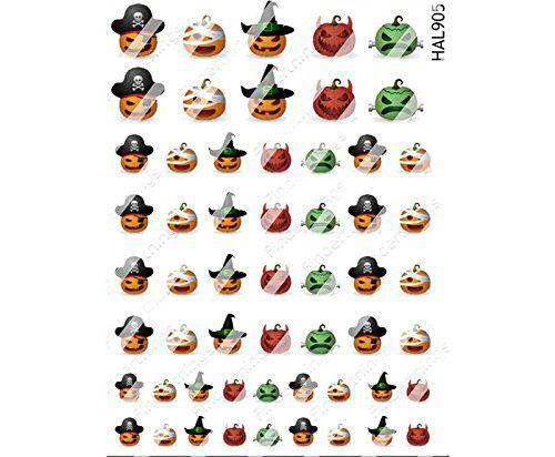 10-Halloween-Pumpkin-Nail-Art-Decals-Designs-Trends-2019-7