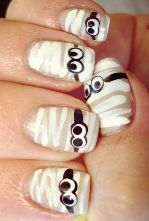 15-Halloween-Mummy-Nails-Art-Designs-Ideas-2019-11