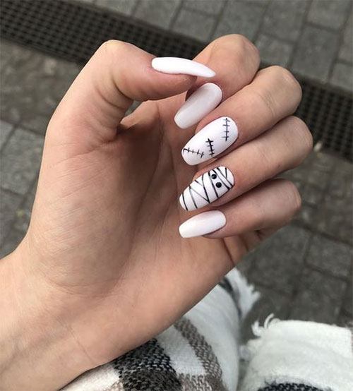 15-Halloween-Mummy-Nails-Art-Designs-Ideas-2019-12