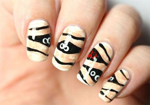 15-Halloween-Mummy-Nails-Art-Designs-Ideas-2019-13