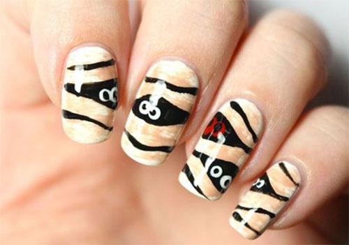 15-Halloween-Mummy-Nails-Art-Designs-Ideas-2019-13