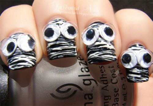 15-Halloween-Mummy-Nails-Art-Designs-Ideas-2019-14