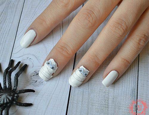 15-Halloween-Mummy-Nails-Art-Designs-Ideas-2019-15