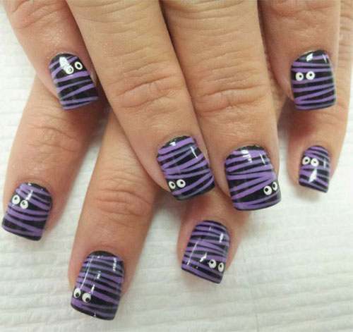 15-Halloween-Mummy-Nails-Art-Designs-Ideas-2019-2