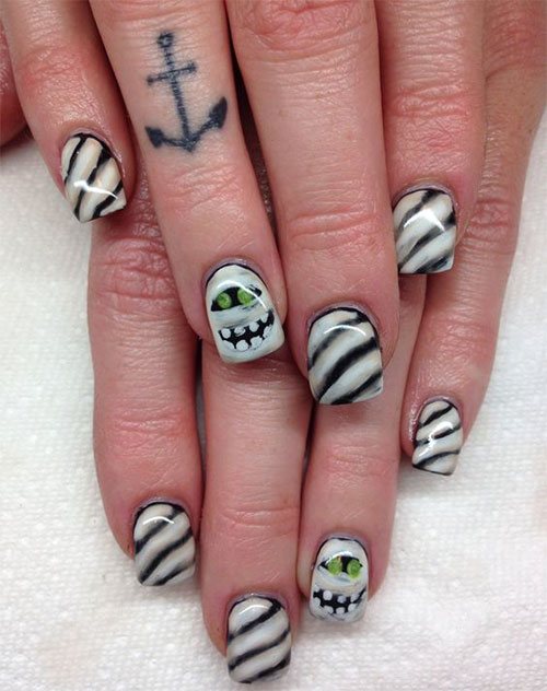 15-Halloween-Mummy-Nails-Art-Designs-Ideas-2019-3