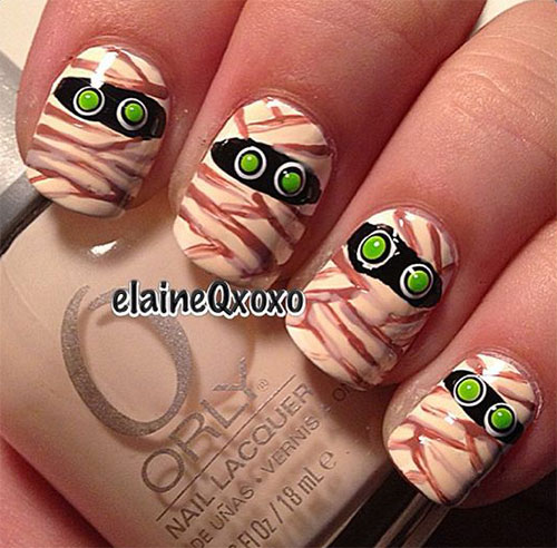 15-Halloween-Mummy-Nails-Art-Designs-Ideas-2019-4
