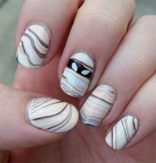 15-Halloween-Mummy-Nails-Art-Designs-Ideas-2019-7