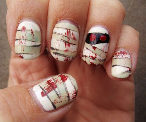 15-Halloween-Mummy-Nails-Art-Designs-Ideas-2019-8