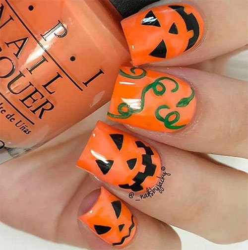 18-Halloween-Pumpkin-Nails-Art-Designs-Ideas-2019-9