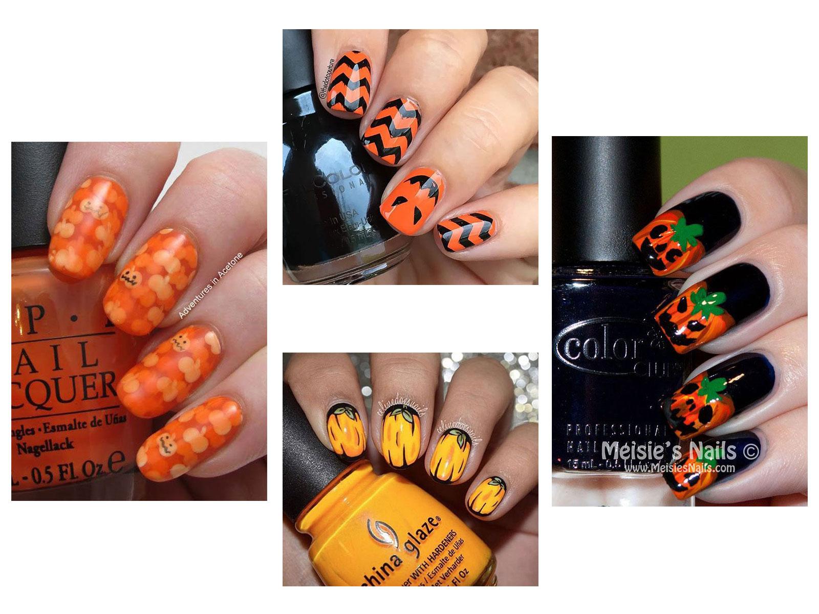 18+ Halloween Pumpkin Nails Art Designs \u0026 Ideas 2019 , Idea