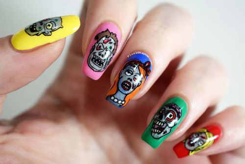 25-Halloween-Inspired-Zombie-Nails-Art-Designs-Ideas-2019-The-Walking-Dead-13