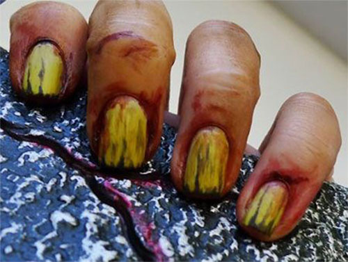 25-Halloween-Inspired-Zombie-Nails-Art-Designs-Ideas-2019-The-Walking-Dead-14