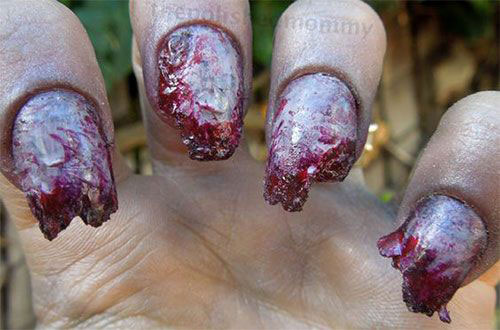 25-Halloween-Inspired-Zombie-Nails-Art-Designs-Ideas-2019-The-Walking-Dead-16