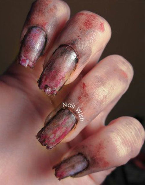 25-Halloween-Inspired-Zombie-Nails-Art-Designs-Ideas-2019-The-Walking-Dead-18
