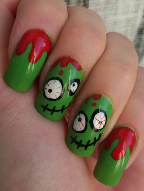 25-Halloween-Inspired-Zombie-Nails-Art-Designs-Ideas-2019-The-Walking-Dead-20