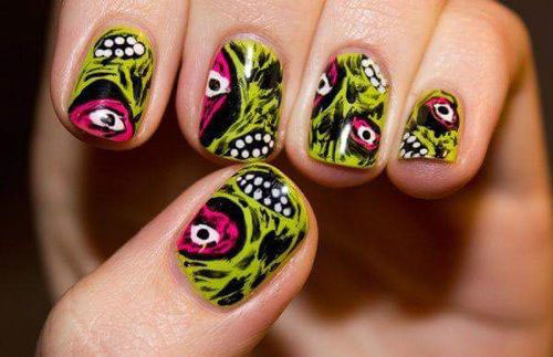25-Halloween-Inspired-Zombie-Nails-Art-Designs-Ideas-2019-The-Walking-Dead-4