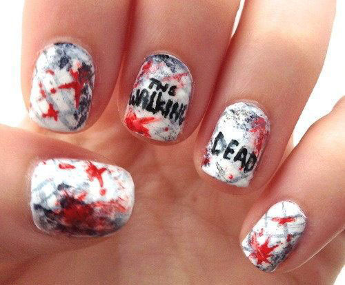 25-Halloween-Inspired-Zombie-Nails-Art-Designs-Ideas-2019-The-Walking-Dead-6