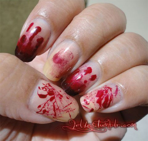 25-Halloween-Inspired-Zombie-Nails-Art-Designs-Ideas-2019-The-Walking-Dead-9