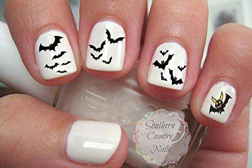 Halloween-Bat-Nail-Art-Decals-Designs-Ideas-2019-4