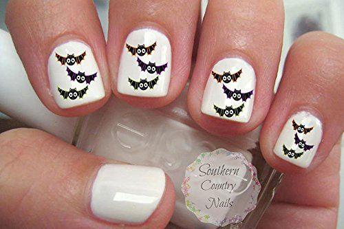 Halloween-Bat-Nail-Art-Decals-Designs-Ideas-2019-5